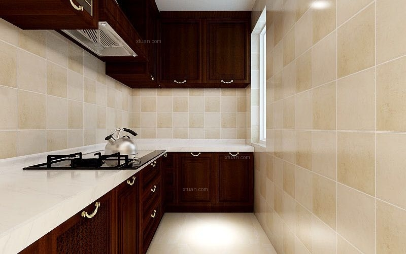 两居室美式风格厨房