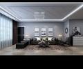 盛和世纪-黑白灰高雅现代风格-哈尔滨红枫叶装饰