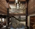 山东德州古典中式茶楼装修效果图方案