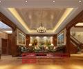 济南龙山希思庄园350平欧式风格联排别墅装修
