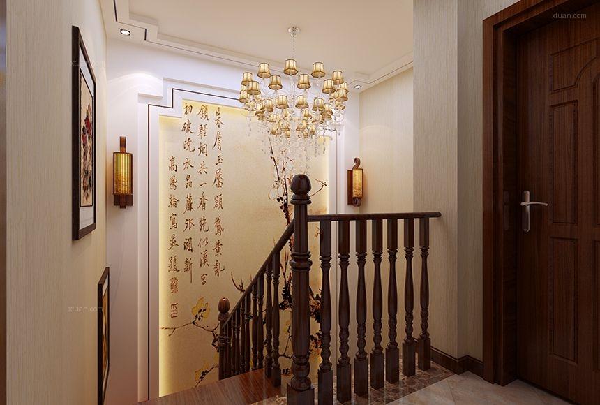 别墅中式风格过道