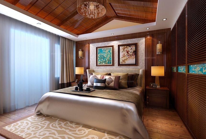 别墅中式风格卧室