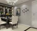 海尔玫瑰蓝兰亭118平三居室现代风格案例