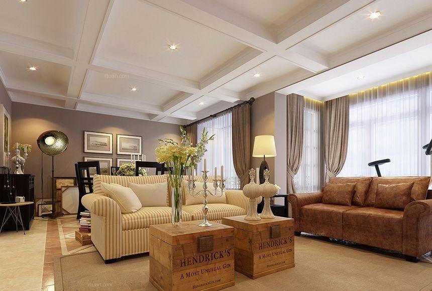 龙湖锦璘原著120平三居室美式风格案例