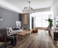 浮山后五小区78平两居室美式风格案例
