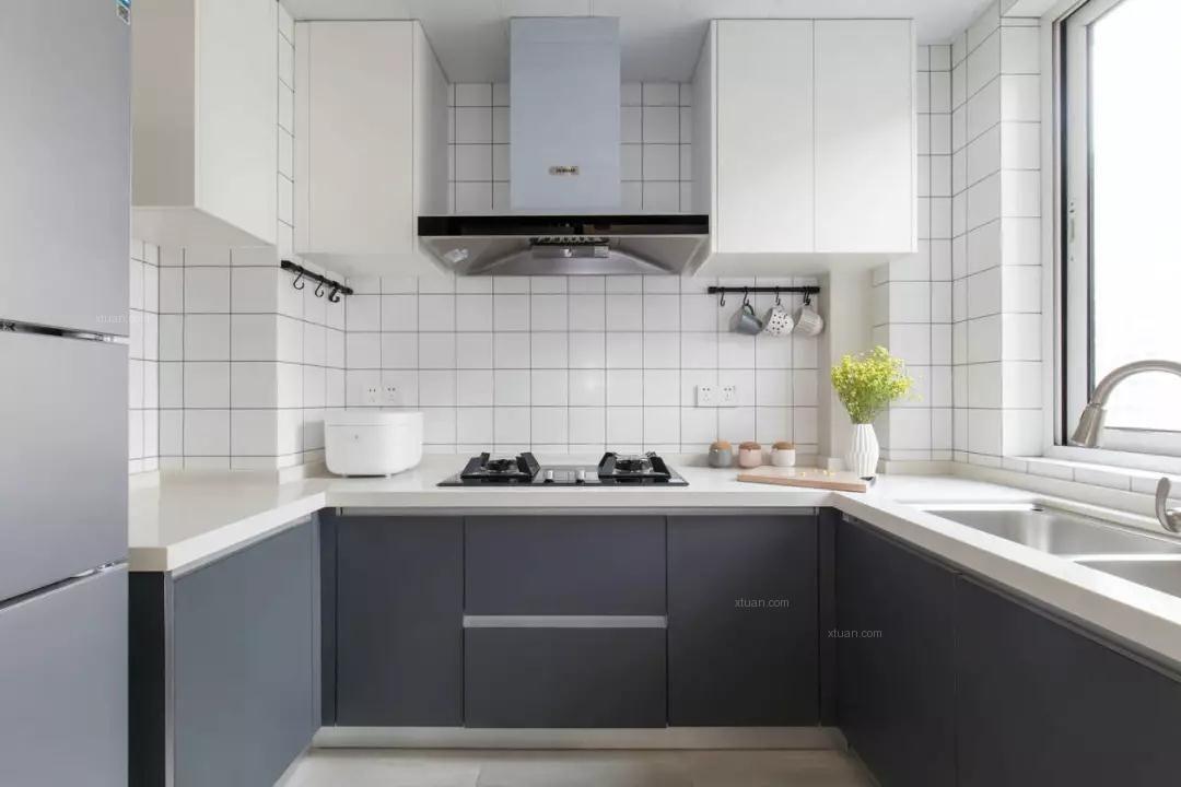 四居室北欧风格厨房_上善颐园装修效果图
