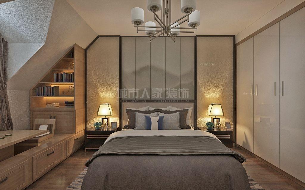 三居室中式风格小卧室