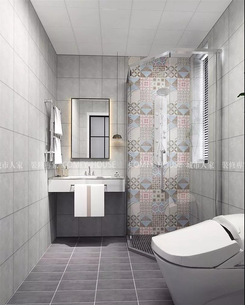 两居室北欧风格卫生间_亲子案例装修效果图
