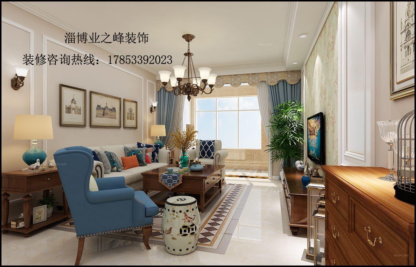 淄博业之峰装饰橡树湾三期美式风格设计效果
