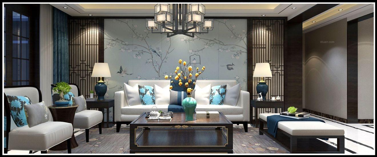 两居室中式风格客厅_中式装修效果图