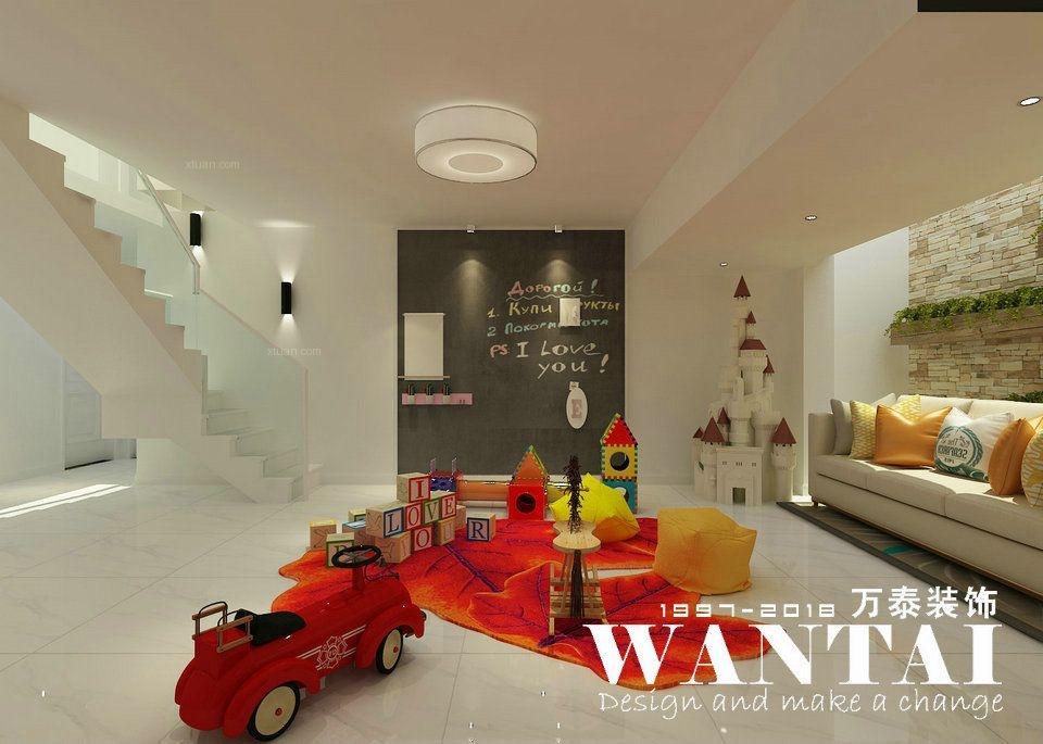 泰安恒基家园 125m²+地下 复式 现代简约装修风格