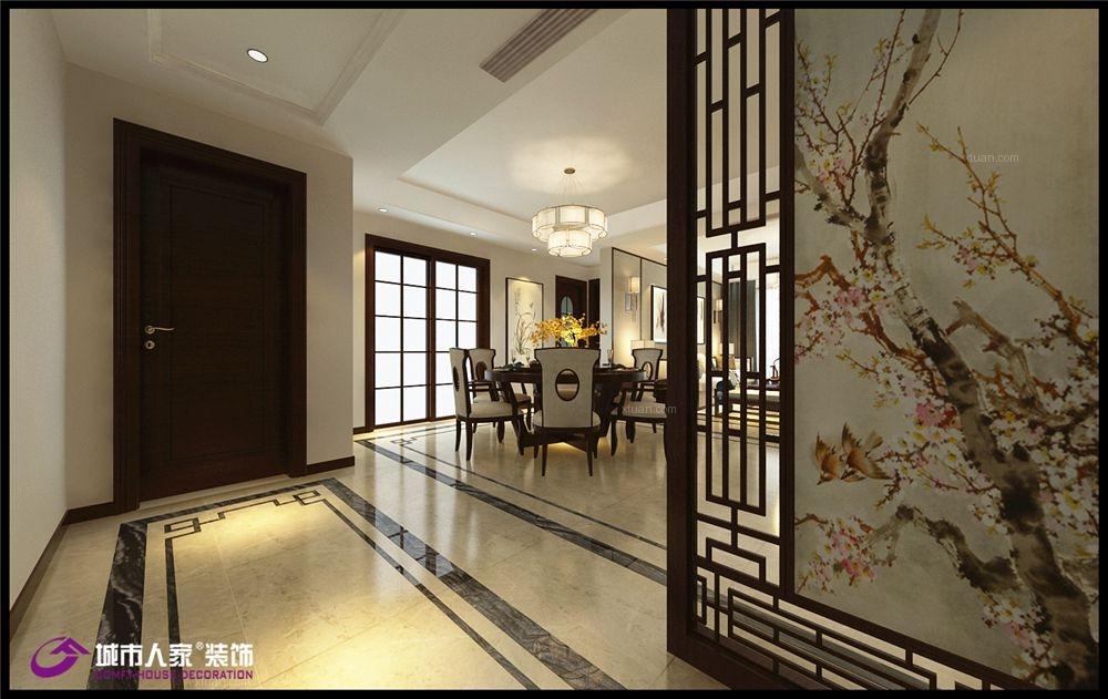 四居室新中式过道