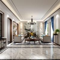 中海紫御豪庭别墅项目装修中式风格