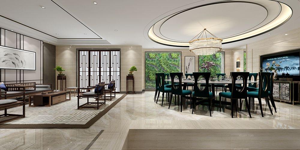 中海紫御豪庭别墅新中式设计