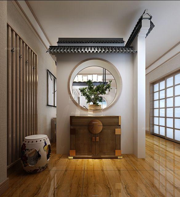 三居室新中式玄关