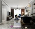 中新国际城95平装修,三室两厅现代风格案例