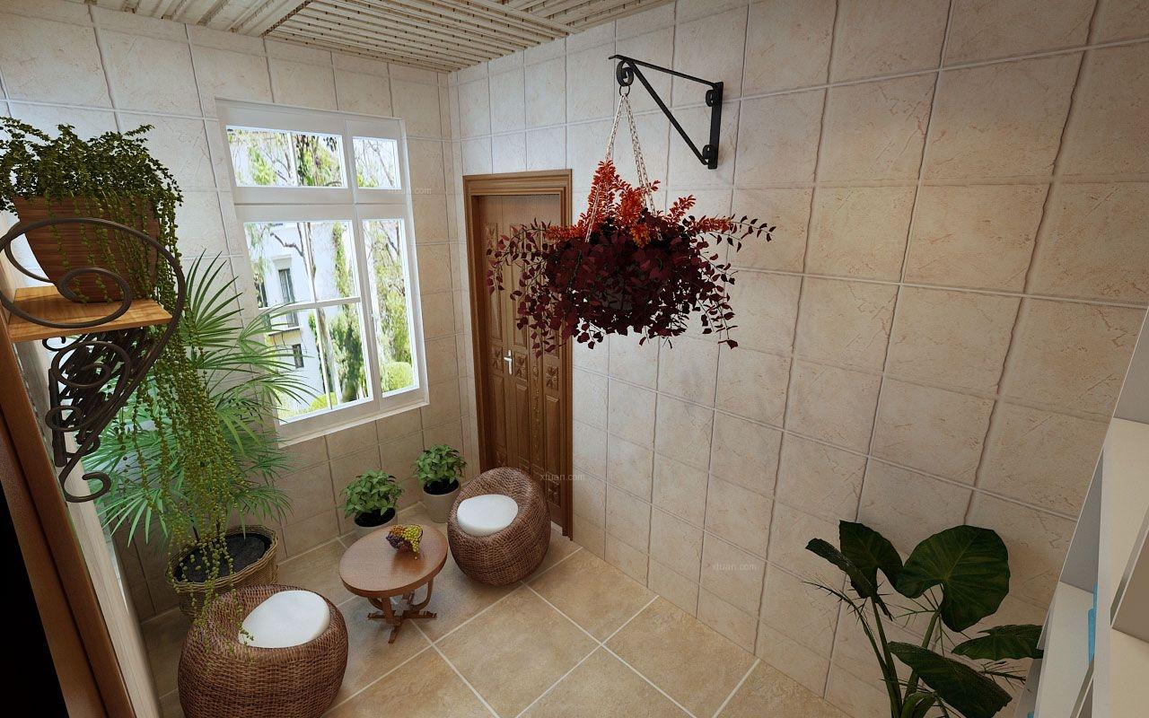 两居室中式风格花园