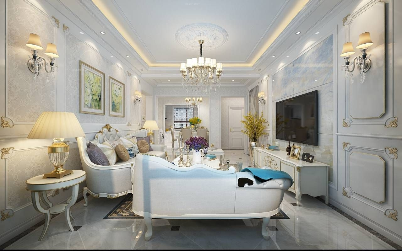 中海紫御观邸-华丽高贵欧式风格-哈尔滨鸣雀装饰