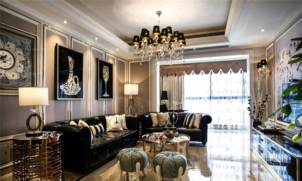 浦江海景大平层欧式古典风格设计装修效果图