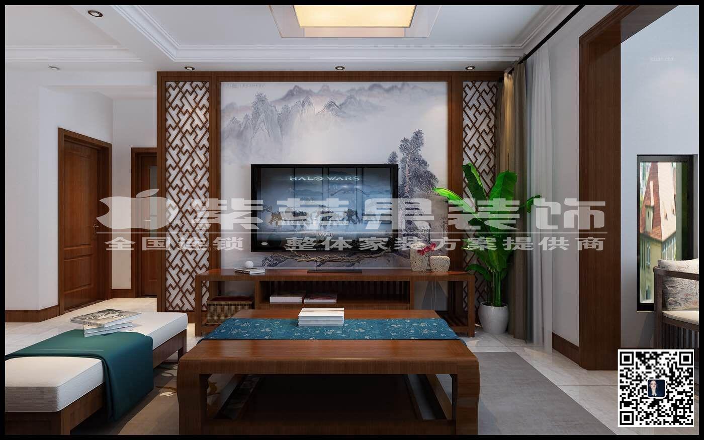 中正睿城92平米新中式装修