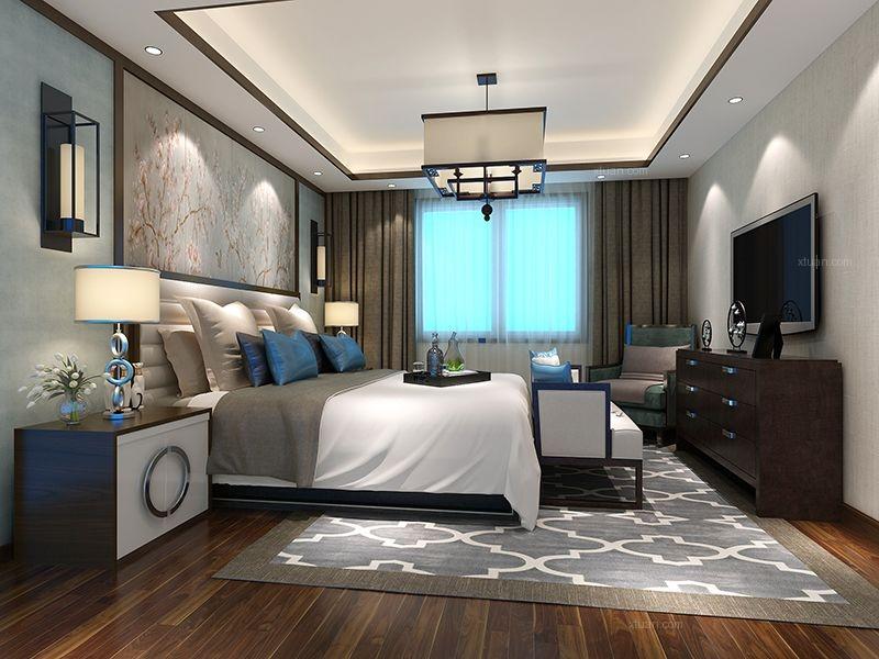 联排别墅中式风格卧室