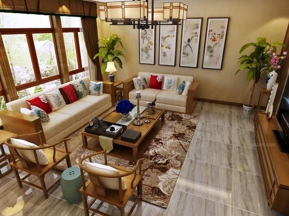 合生前滩一号别墅新中式风格设计