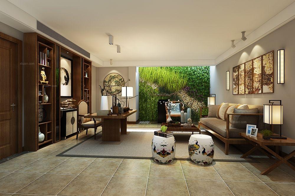 联排别墅现代风格客厅沙发背景墙