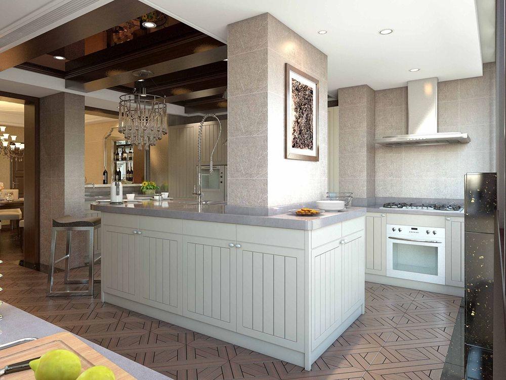 别墅欧式风格厨房墙绘