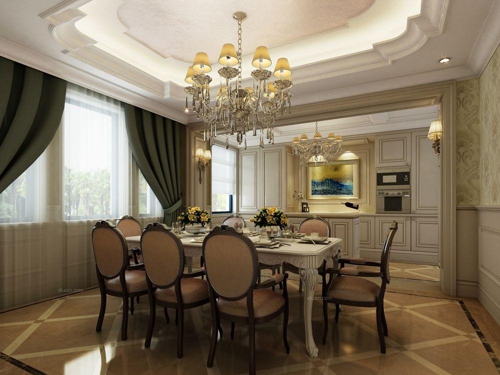 别墅美式风格餐厅地台