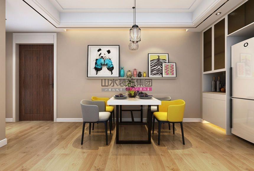四居室现代风格餐厅