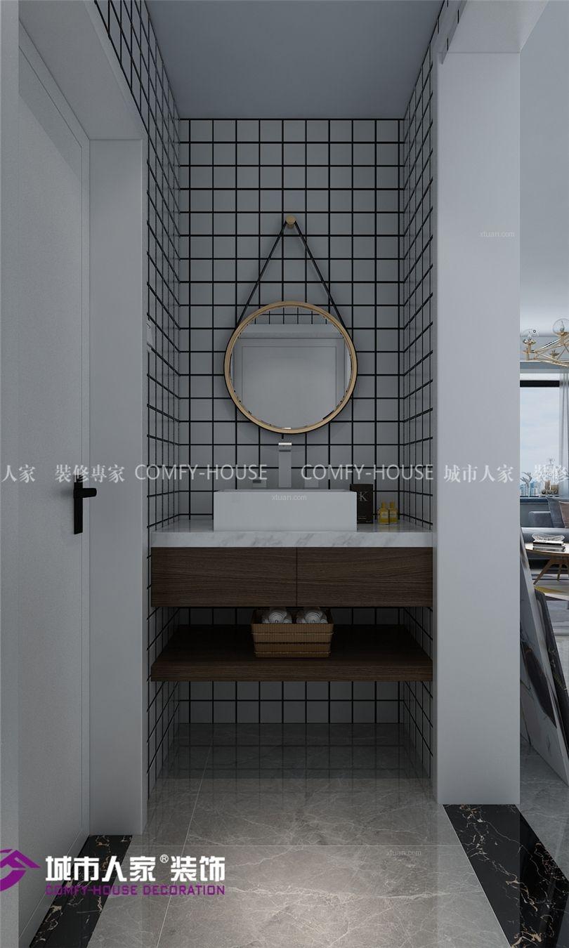 两居室北欧风格卫生间软装