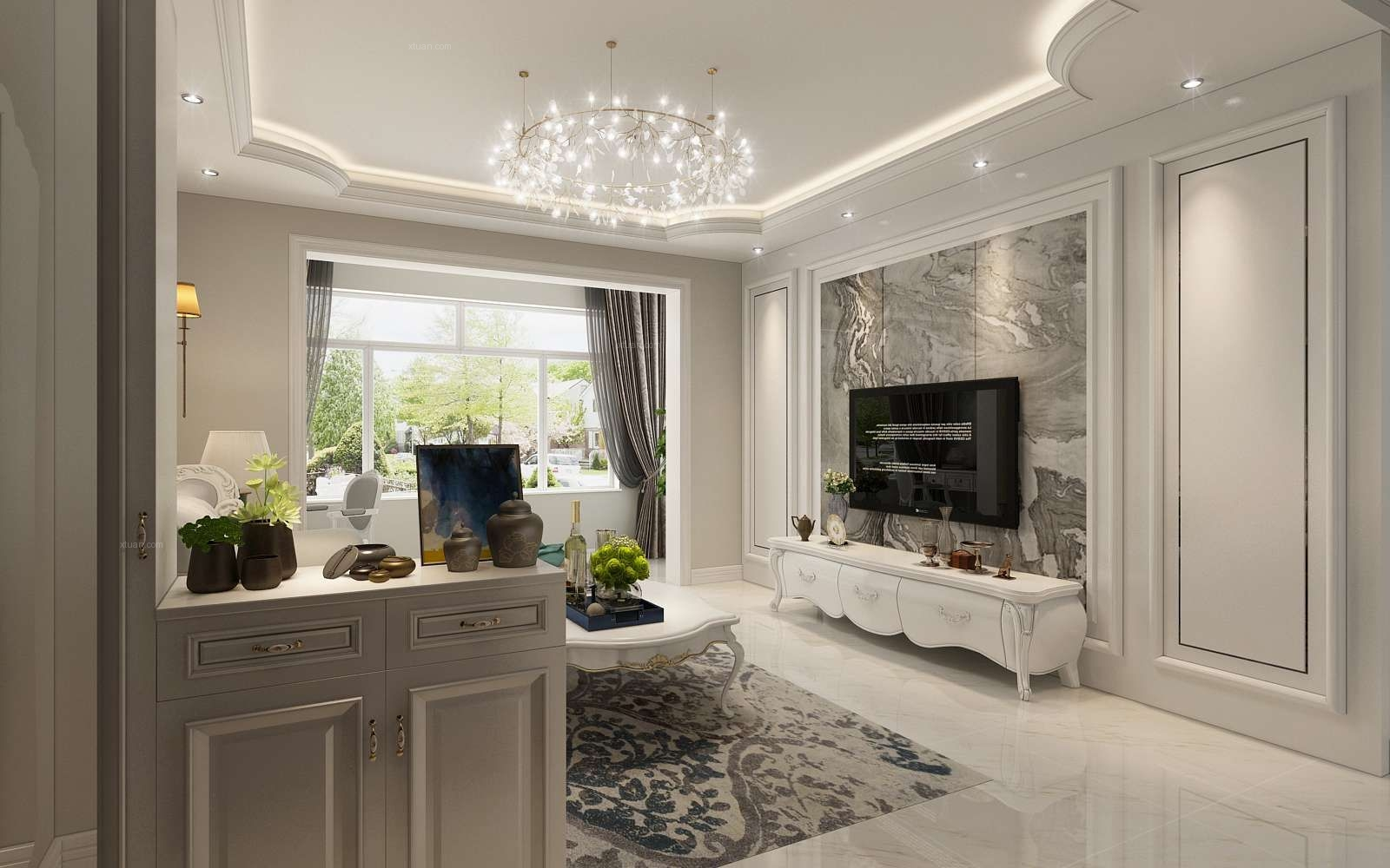两居室简欧风格客厅