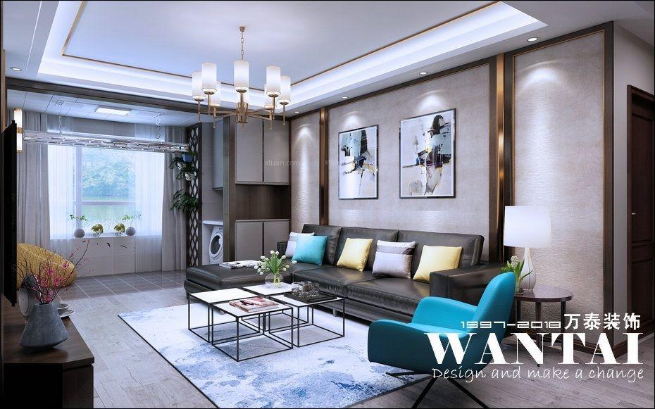 泰安万泰装饰|鲁商国际124m²混搭风格装修