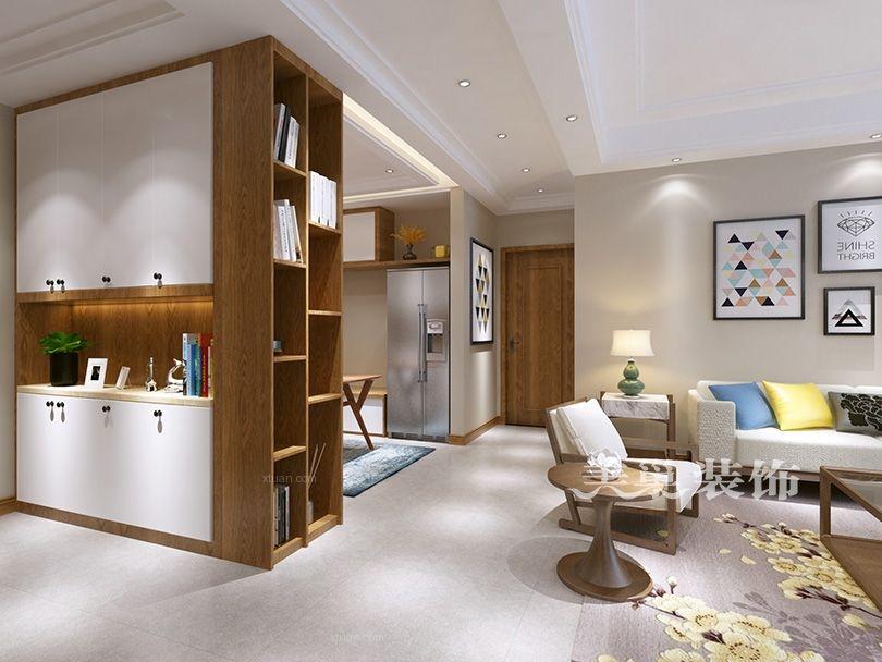 南阳美巢儒林文化苑北欧风家具设计128平三室两厅装修效果图
