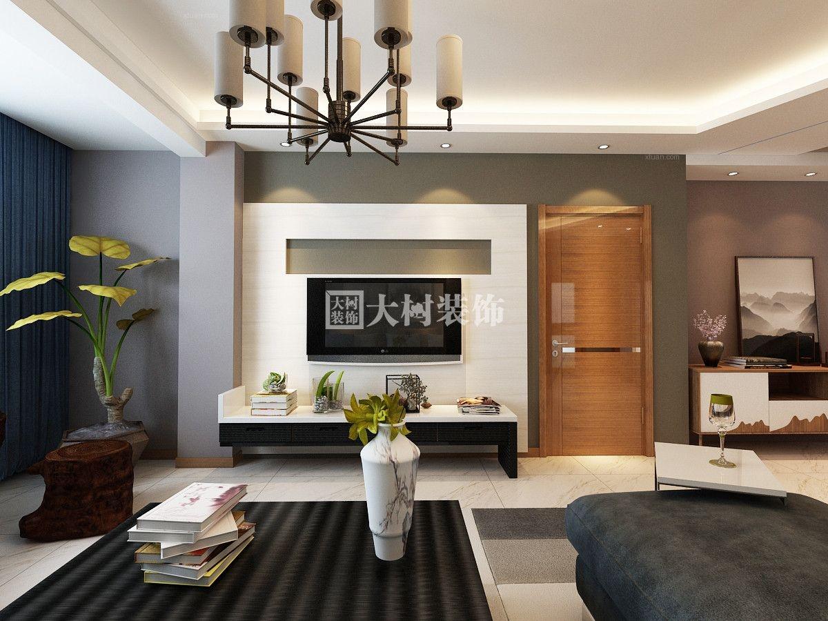 三室一厅现代简约客厅