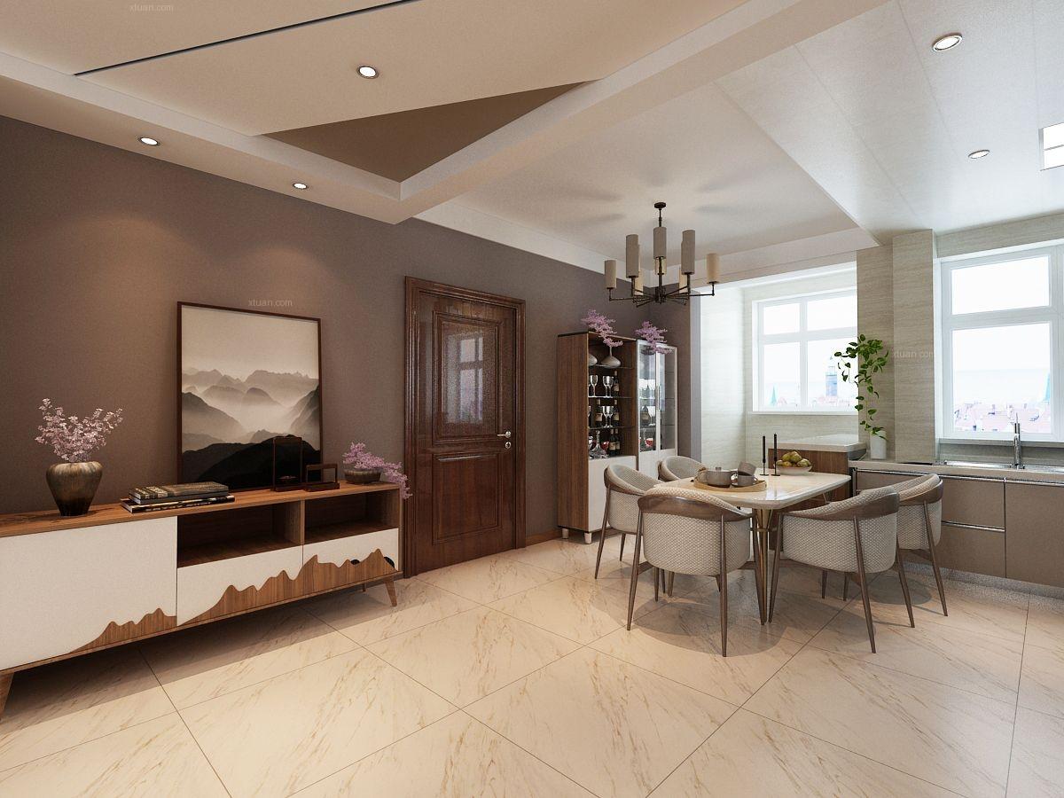 三室一厅现代简约餐厅