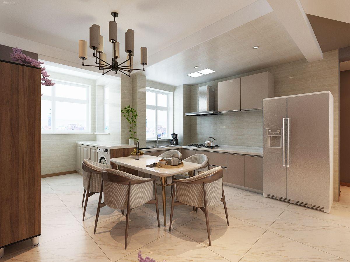 三室一厅现代简约厨房