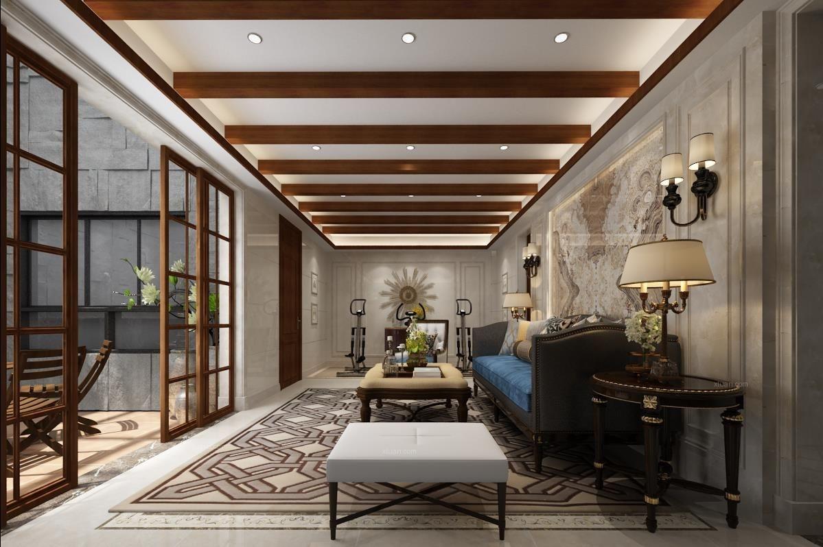 别墅中式风格地下室