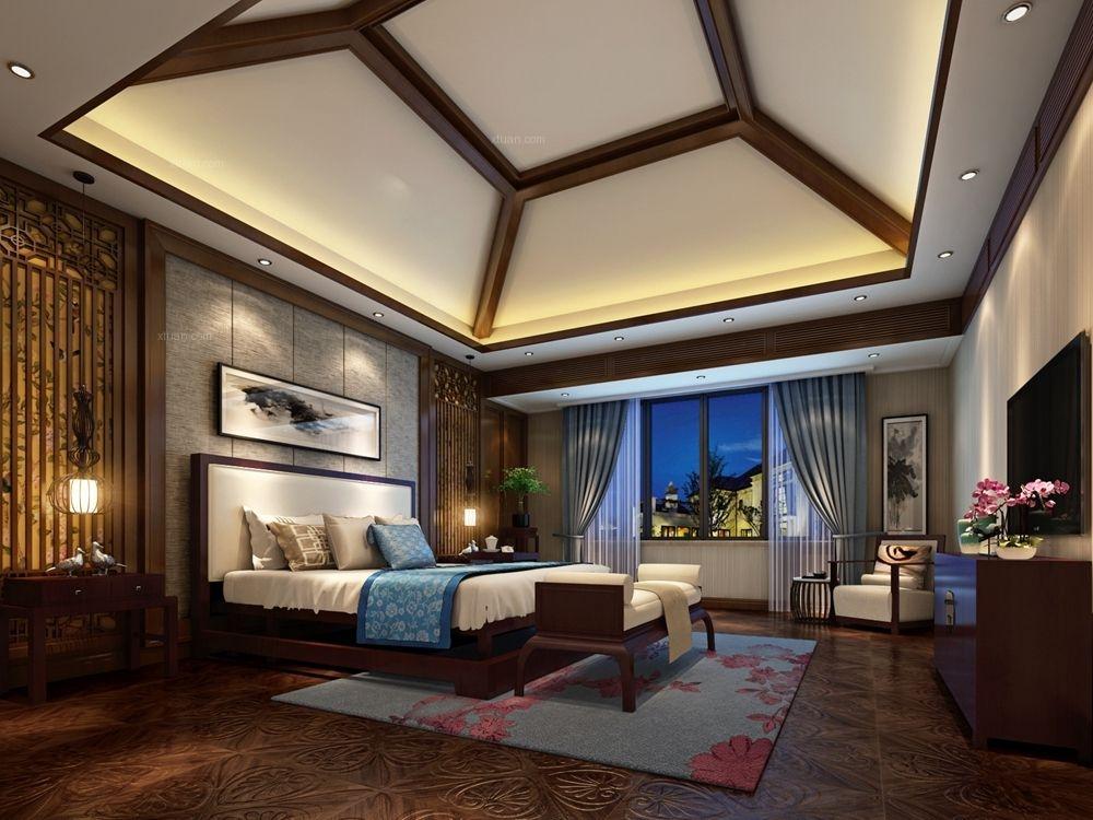 独栋别墅中式风格卧室