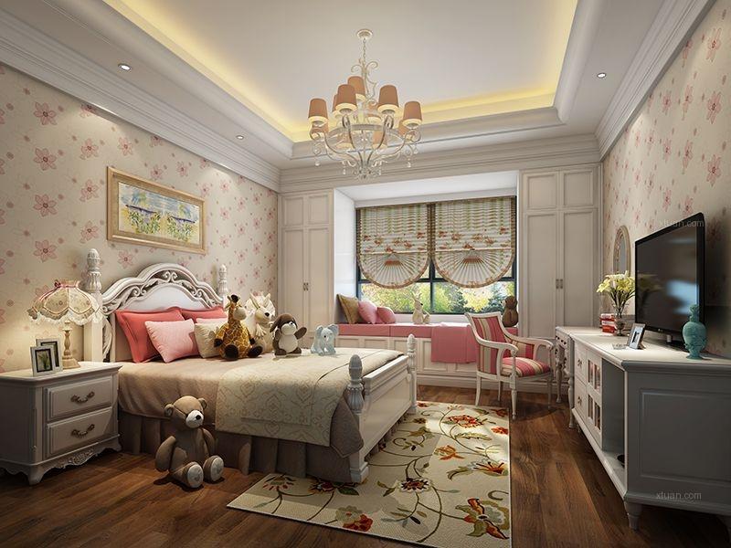 独栋别墅美式风格卧室