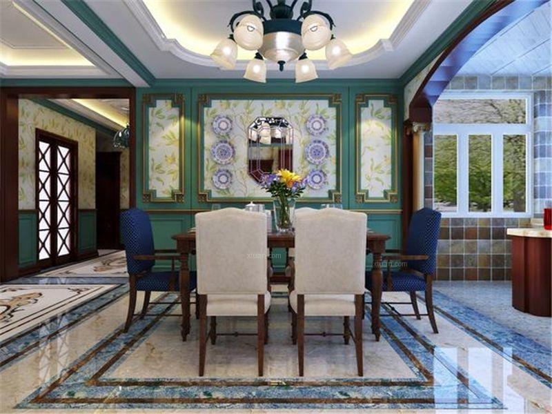 陆家嘴公馆大平层美式风格设计装修效果图