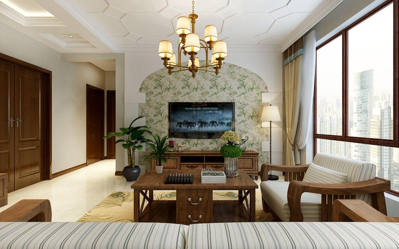 辰能溪树庭院-自由舒适混搭风格-哈尔滨鸣雀装饰