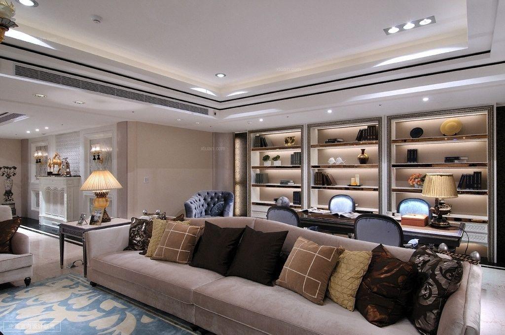 浦东星河湾大宅现代风格设计