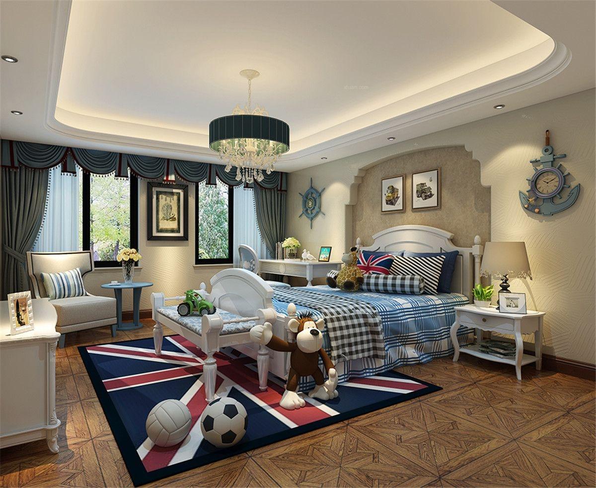 联排别墅美式风格卧室