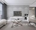 郑州美巢绿都紫荆华庭119平三室两厅设计现代黑白灰装修效果图