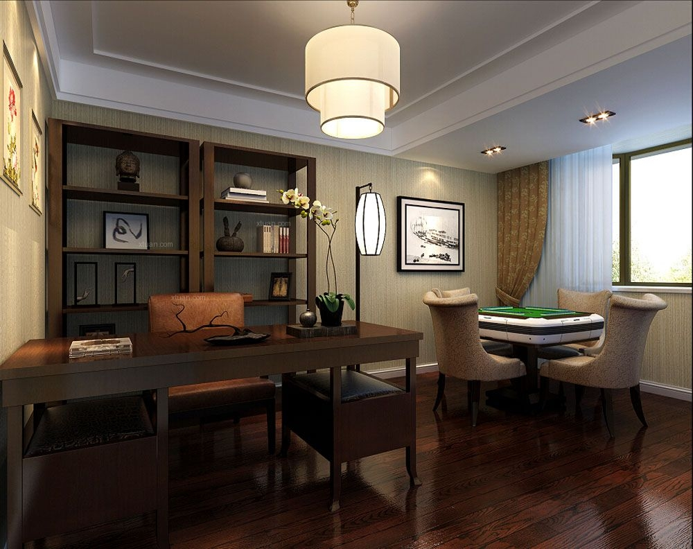 保利艾庐别墅装修中式风格设计
