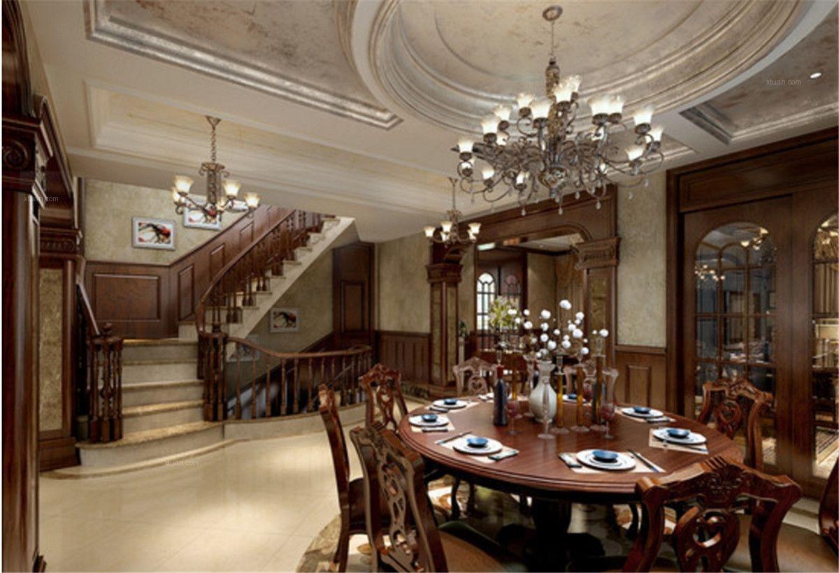 东郊花园别墅装修欧美古典风格设计