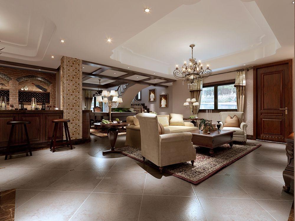 古北臻园独栋别墅美式风格设计