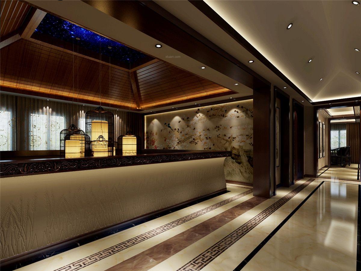 蓝堡公馆装修中式风格设计案例展示