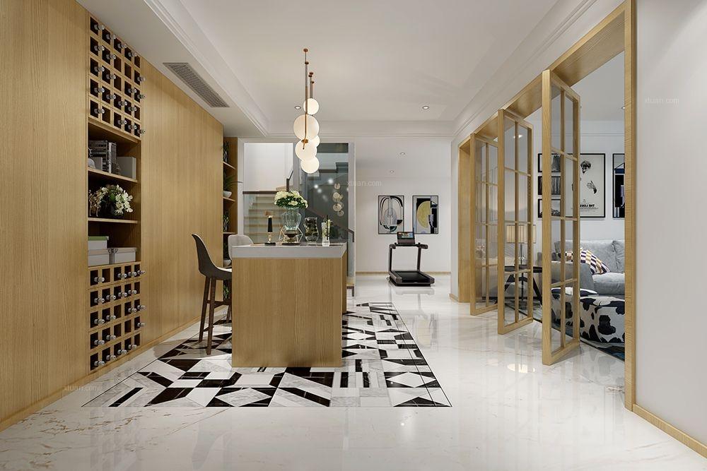 联排别墅现代风格餐厅
